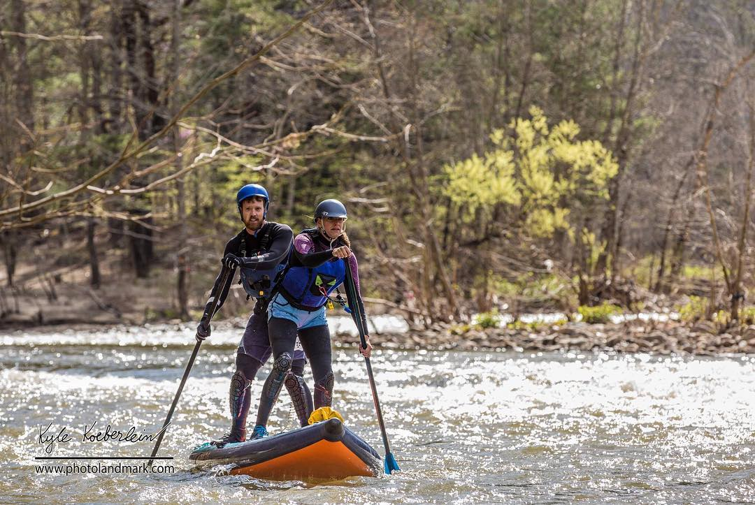 @willsaylor and Danelle Kara paddling the #HalaDaze down the #nolichuckyriver!