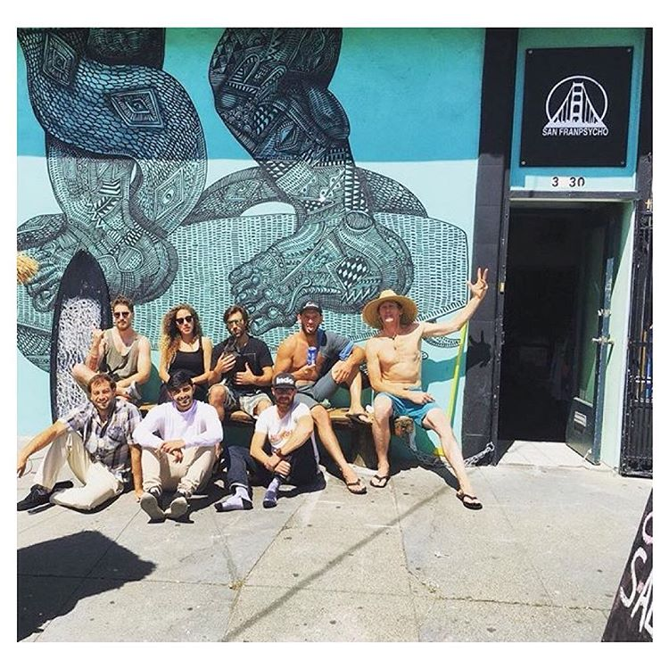 Sunny daze at Indo HQ ☀️ Product testing & soaking up rays in front of the Church of Surf