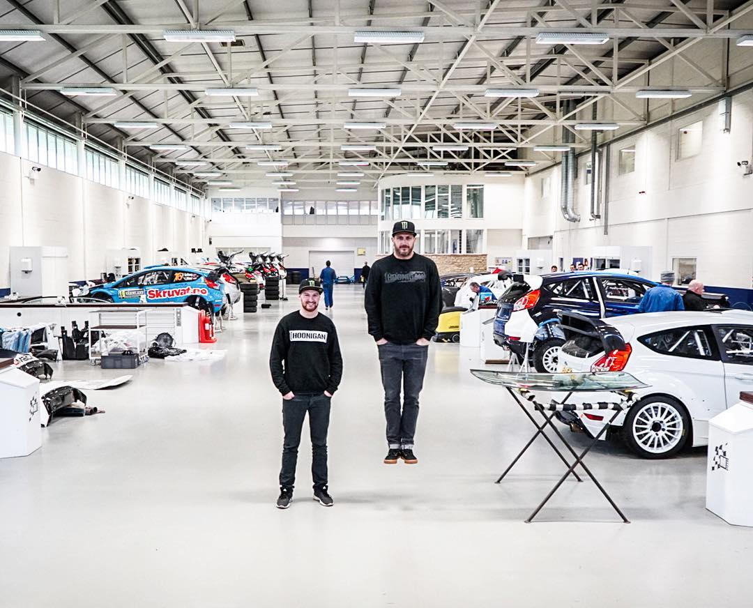 Visited @MSportLTD today with my new Hoonigan Racing teammate @AndreasBakkerud to check out progress on Ford Focus RS RX #002, and see the liveries being installed. They are looking insane. Seriously. Always fun to visit M-Sport: I especially love...