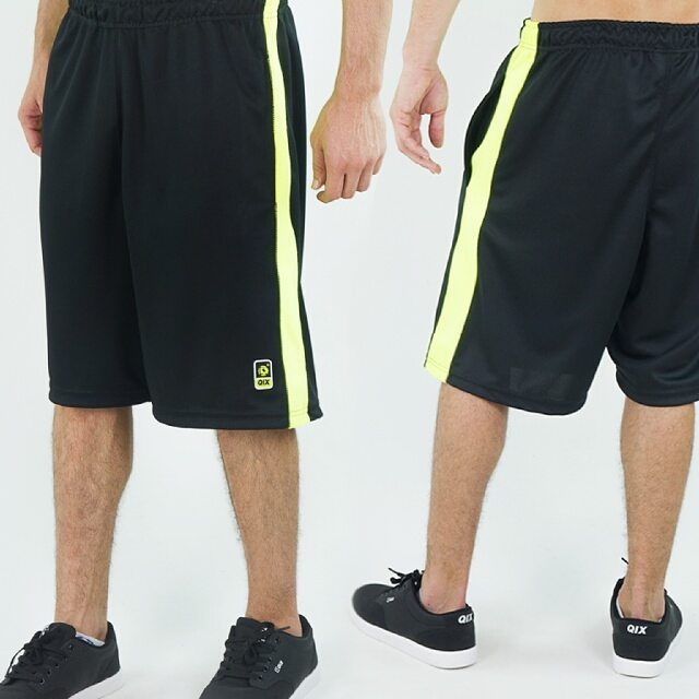 Bermuda Qix Sports - Preta Neon Disponível em lojas de todo o Brasil e também em nossa loja virtual. #qix #neon #shorts