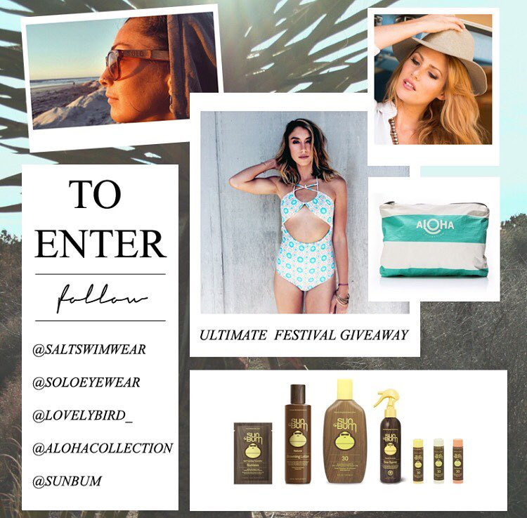 (GIVEAWAY) Hey everyone, our good friends at @saltswimwear  are having a giveaway including an opportunity to win a pair of our shades! Don't miss out, go to their page and enter to win!