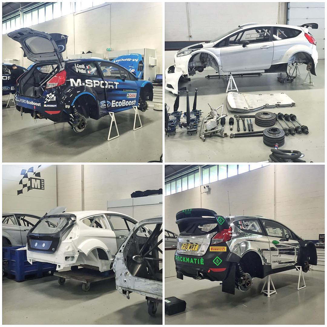 Just a few of the WRC and R5 Ford Fiestas spotted in the @MSportltd shop today. #rallytoys #FordFiestaWRC #FordFiestaR5 #FordFiesta
