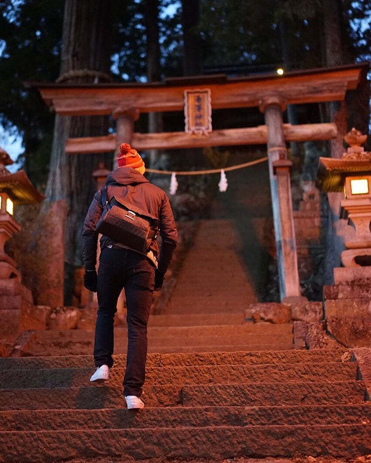 Joey from our design team exploring Kenmei-ji Temple in Japan, following a very productive product design trip to Vietnam.  #findyourpeak #peakdesign #theeverydaymessenger #japan