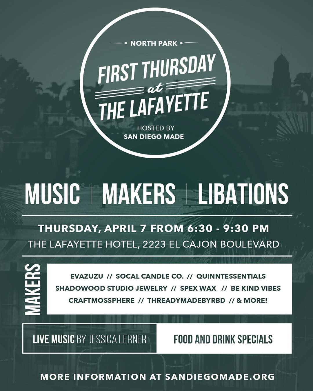 ~ Tribe Gathering ~  Swing by the @thelafayette tonight for First Thursday! Enjoy a tasty beverage while listening to some local music, and checking out all the rad local makers.  Mention this post and get 10% off your order....