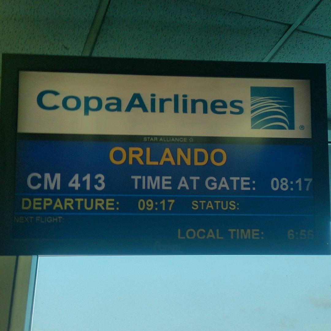 Listo para ir a #Orlando #USA #gate31 #Tocumen #Panama