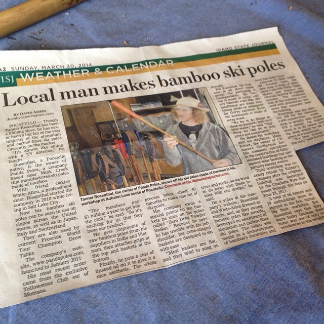 TanSnowMan and Panda Poles featured in the Idaho State Journal Sunday paper recently... #TRIBEUP Pocatello!  Thanks to David Ashby for the story!  #pandapoles
