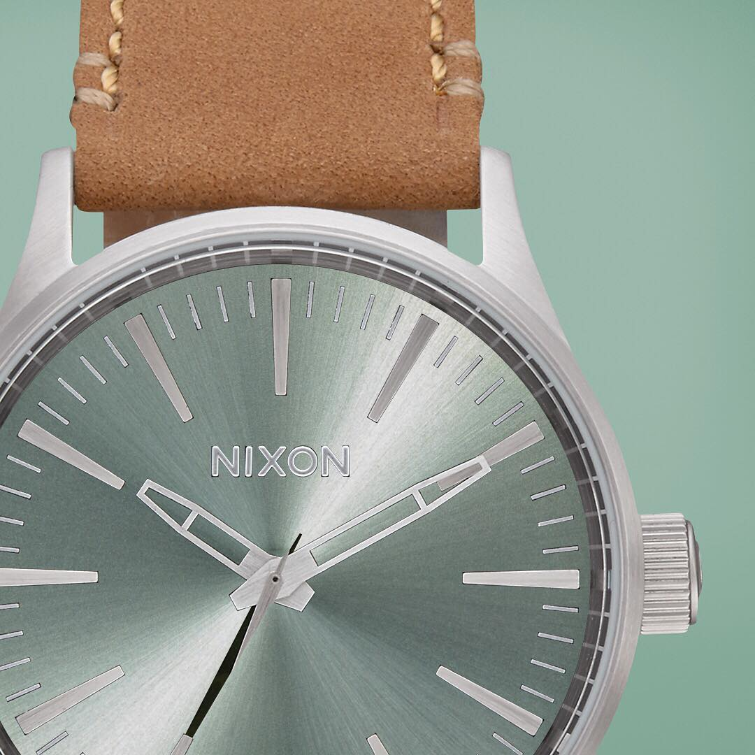Materials and colors evoke age and use while retaining their edge: the #Sentry38 Leather collections embodies the soul of weathered saddlebags in our #DesertSage collection. #Nixon