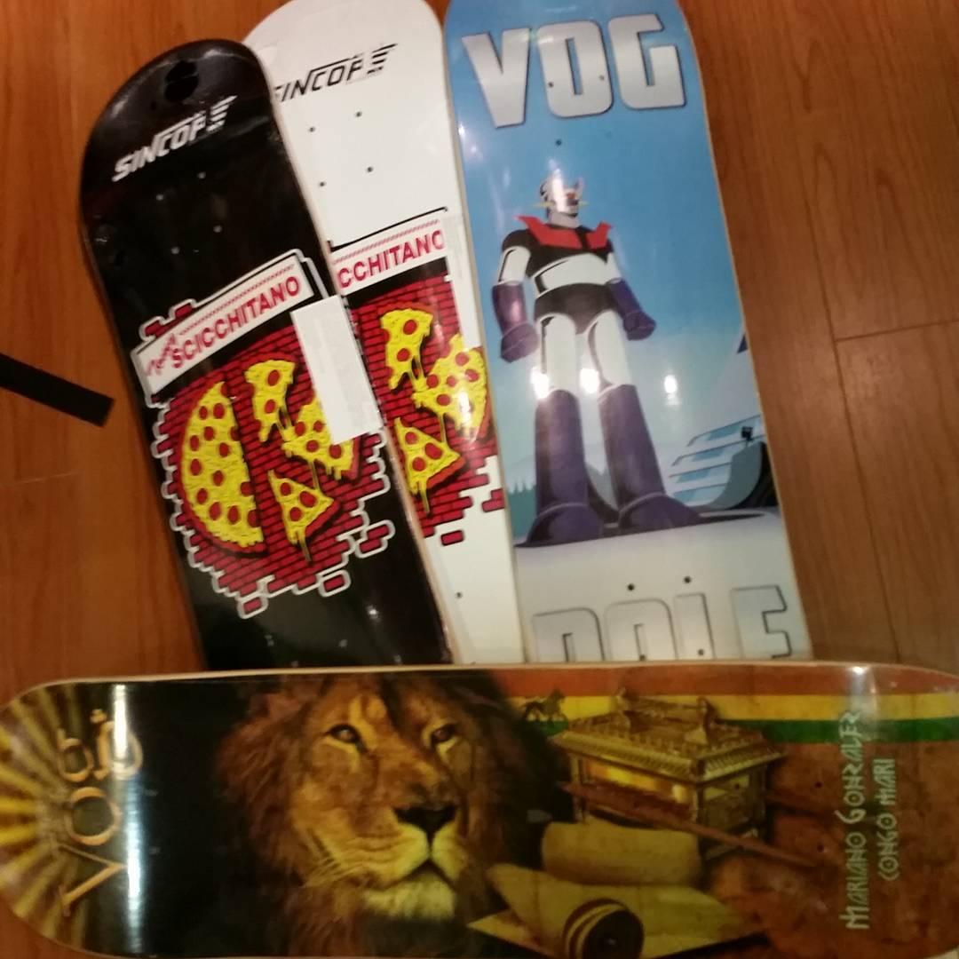Nuevos maples #vogskateboards #sincopeskateboards