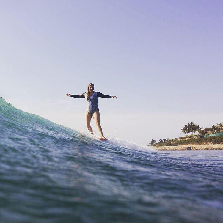 #AkelaSurf Rider @kaitlin_maguire photo @ryanstruck #surfswimwear #ladyslider #sayulita