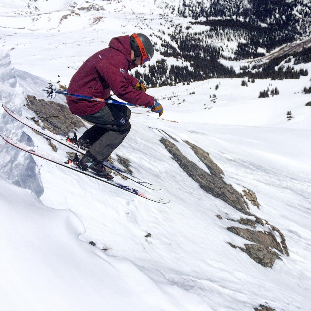 Ryan getting #sendy #indietest2016 @skiingmagazine @lovelandskiarea