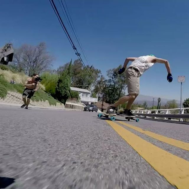 DRC shredding past the camera from the Freebord 2015 US team trip video titled HEAT