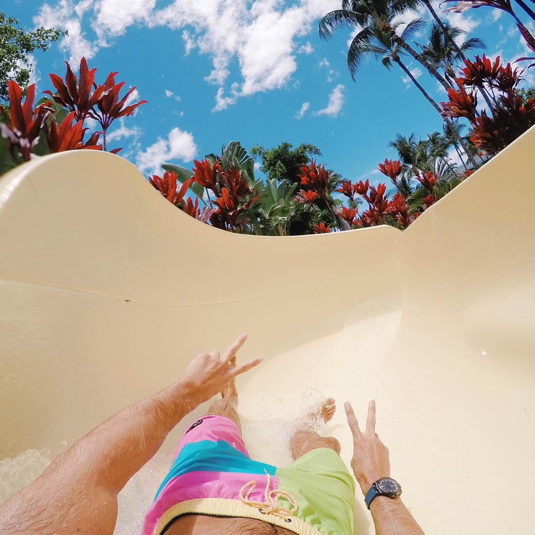 @jasederulo water slidin' in Hawaii. GoPro HERO4 | GoPole Chomps #gopro #gopole #gopolechomps #waterslide #✌