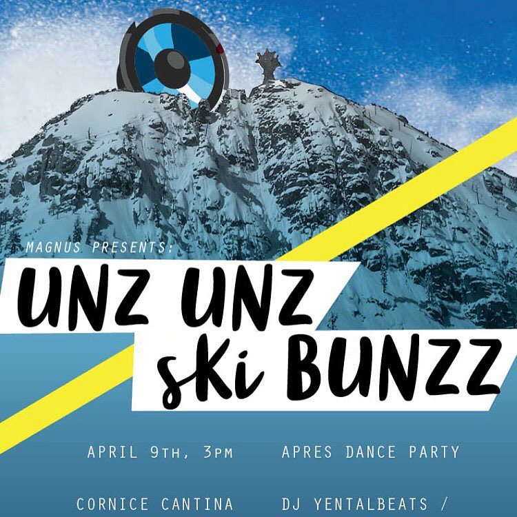 Getting excited for some apres-ski unz unz this weekend!  Join us at @squawalpine on Saturday afternoon for beats by @russ.john.gold, and killer raffle prizes to support @senditfoundation -  Raffle includes skis from @argentskis, gear from @tahoedaves...