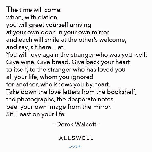 Feast on your life. #AllSwell