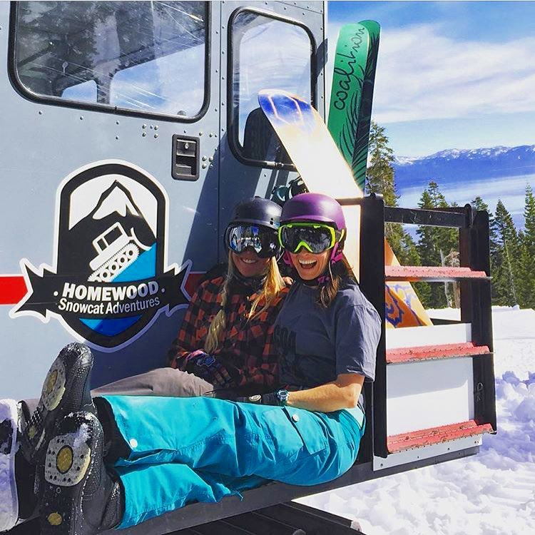 We had a BLAST shooting photos at @skihomewood today; lots of fun with amazing women, beautiful weather, and spring snow!  #sisterhoodofshred #skiing #snowboarding #photoshoot #westshore #tahoe #california