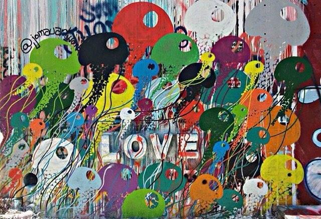 Jelly Love... @jomauartwork • • At the @hope_outdoor_gallery_hog • • #atx #austintx #texas #tx #spratx #art #mural #streetart #love