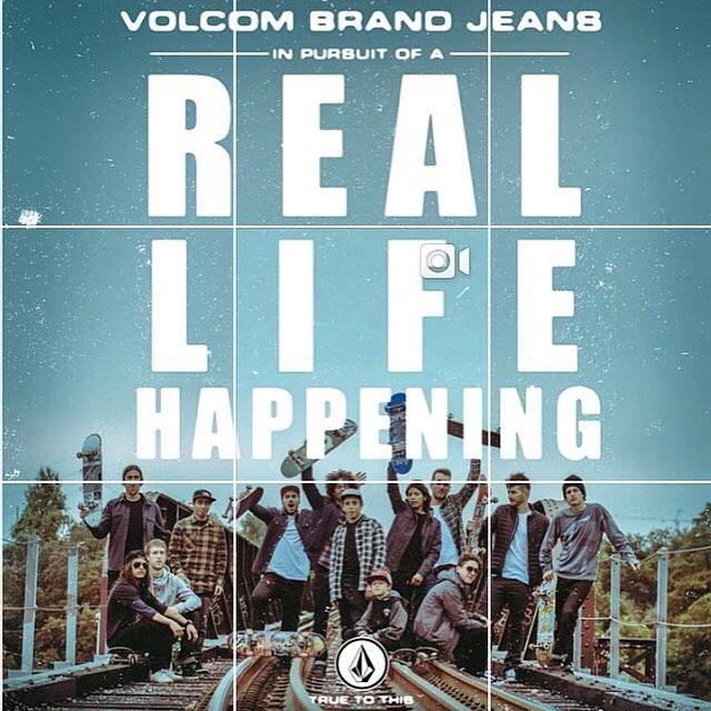 La vida es ahora #reallifehappening @volcom #truetothis