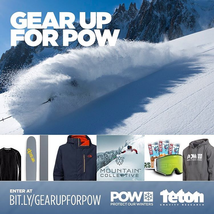 Looking for a stellar gear package to launch you into #dpstourtime, while supporting POW's valuable mission? Our friends at @protectourwinters and @tetongravity have a serious trove from @dpsskis @thenorthface @smartwool @spyoptic @clifbarcompany and a...
