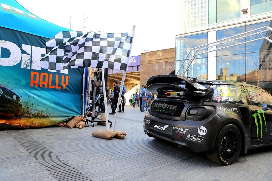 How's everyone enjoying the new #dirtgame? Here's a pic of my DS3 RX SuperCar at the DirtRally launch in London this week!! Let me know how you like this car on the game, I hope it's your favourite!!
