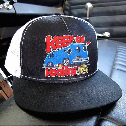 Hop on the van wagon and Keep on Hoonin'. The all new trucker hat just dropped on #hooniganDOTcom.