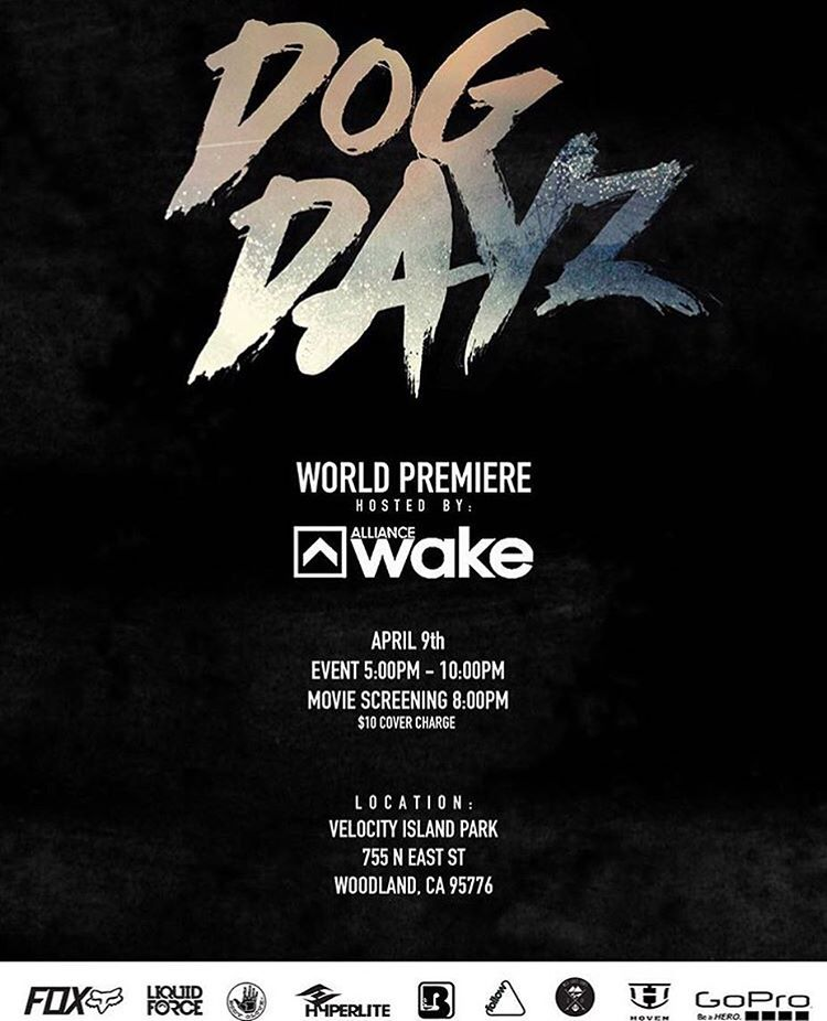 The @dogdayzfilm premiere is all set for tomorrow at @velocityislandpark !! We can't wait to see what our wake team has done!  Wake team: @trevermaur , @joshtwelker , @cookslooks , and @melissa_marquardt  #alwayssunblockingneverfunblocking
