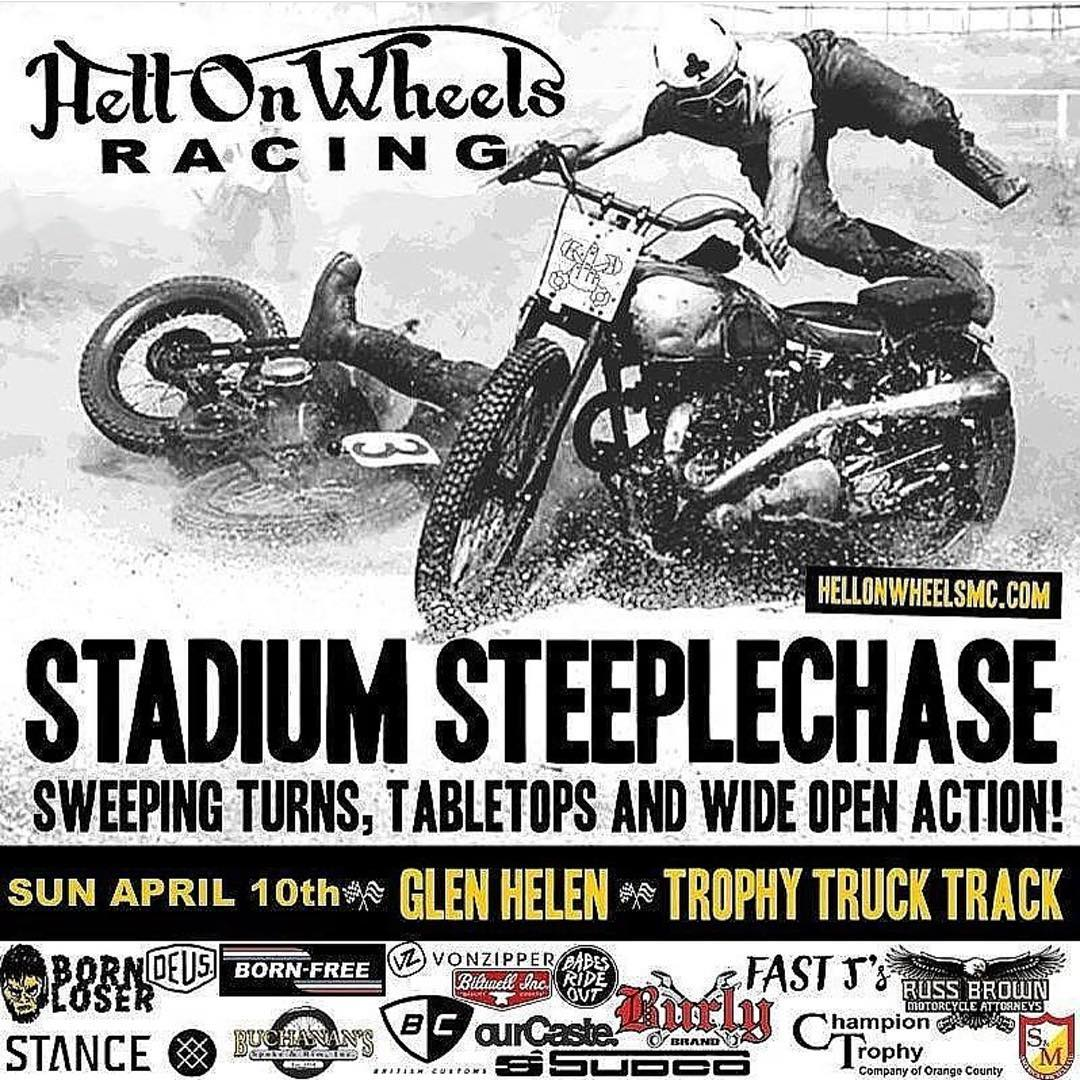 This Sunday git yurself out to @glenhelenraceway for some good times with some questionable people! The @hellonwheelsmc Steeple Chase is ON! #VonZipper #SupportWildLife #FreewheelersMX