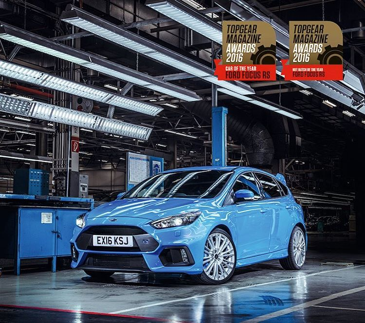 @TopGear Magazine's 2016 CAR OF THE YEAR award goes to: The new Ford Focus RS!! Stoked to see the car I helped develop beating out a lot of much more expensive machinery that it was up against for this award. Congrats to Ford and everyone that worked...