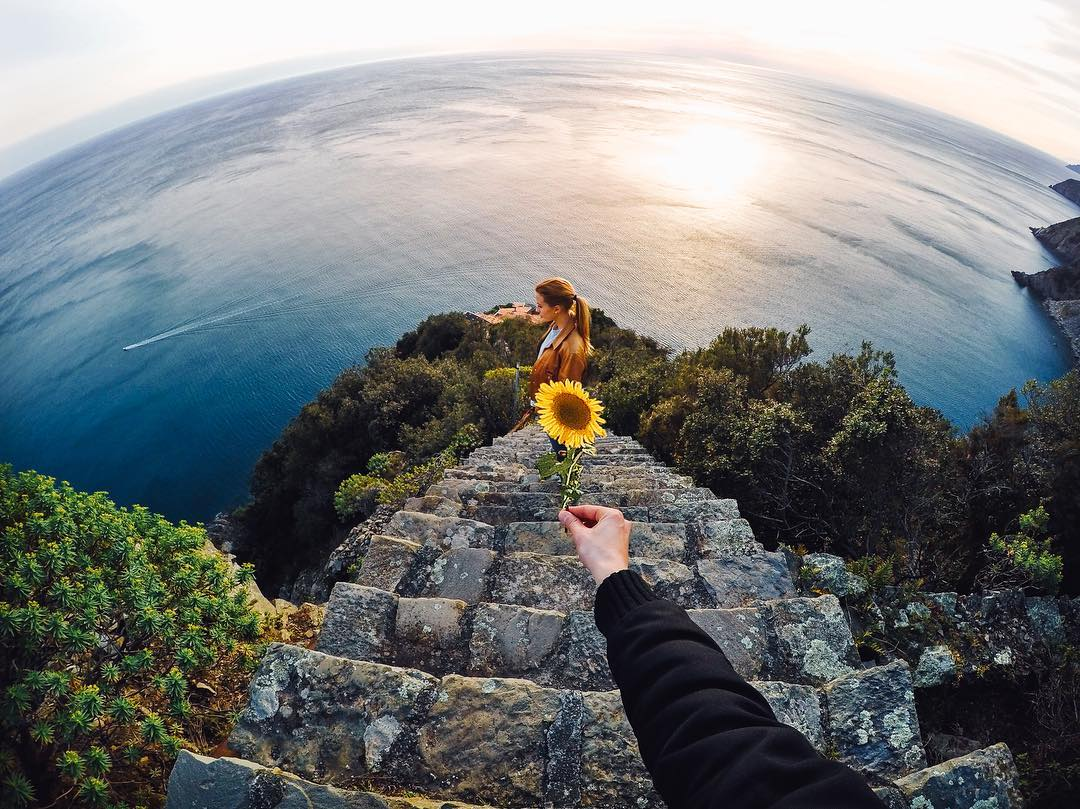 Photo of the Day! A #sunflower #sunset with @sachacidale. Share your best weekend vibes with us via link in bio. #GoPro #GoProTravel #