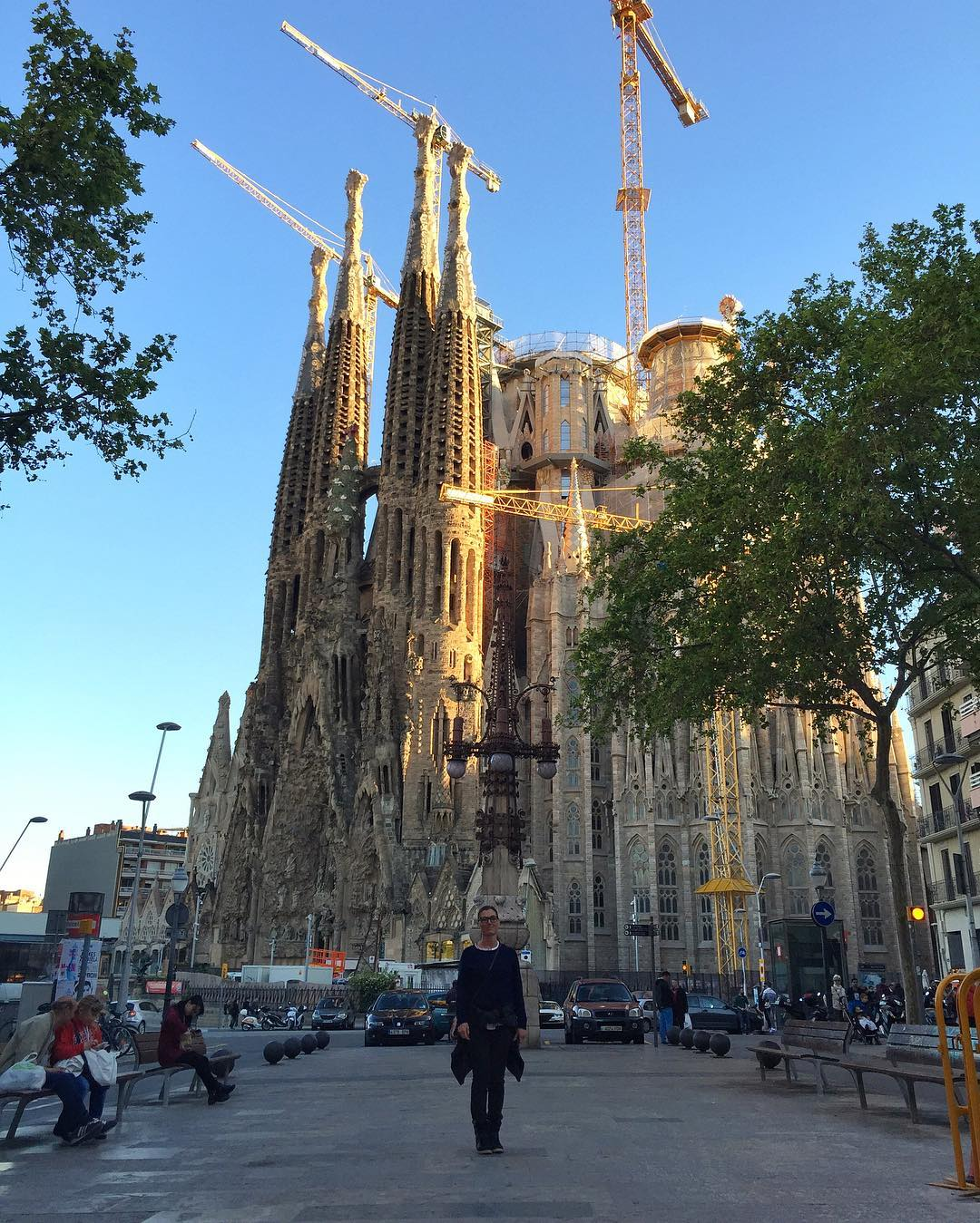 Walking around Barcelona with my wifey today. Looks like they still haven't finished this church? Ha. #134yearssofar #20yearsmore #longtermproject #Gaudi