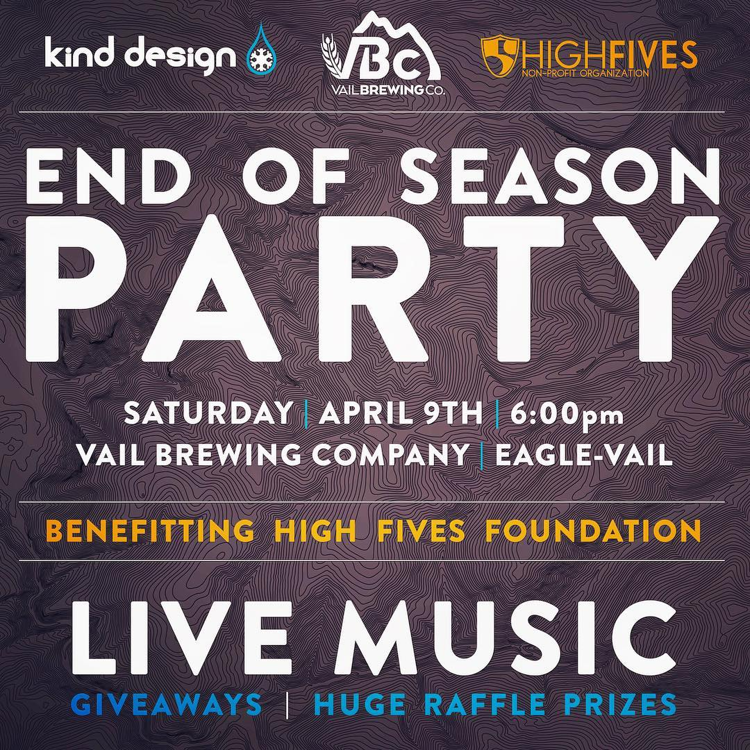 Hope to see you all tonight at @vailbrewingco raising money for @hi5sfoundation --- live music --- raffle (skis, art, gear, clothing) --- giveaways --- great beer --- awesome people. #kinddesign #highfivesfoundation #vailbrewingco #liveyourdream...