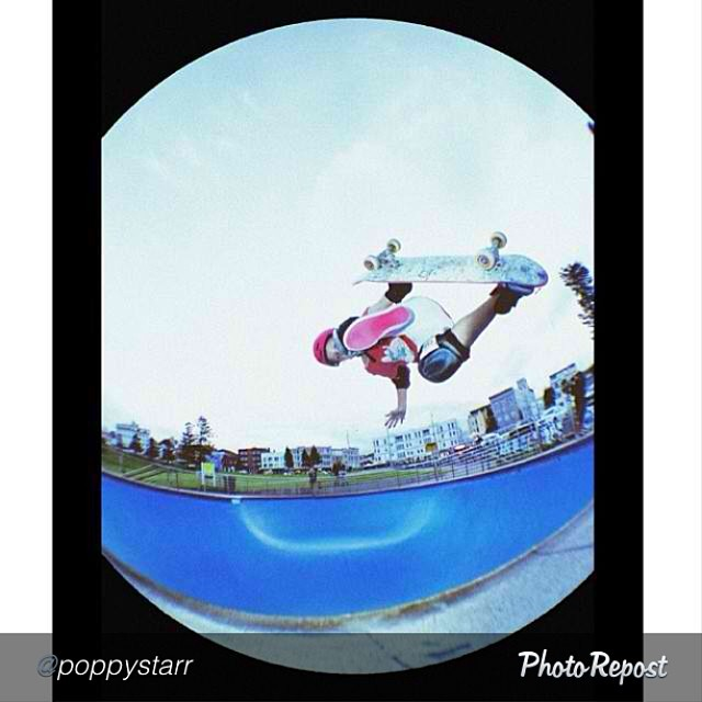 "Nice. @poppystarr kicking out a #judo. #skateboarding #skate #skatelife by @poppystarr ""~ getting my judo's down ✔️~ ------------------------------------------------"