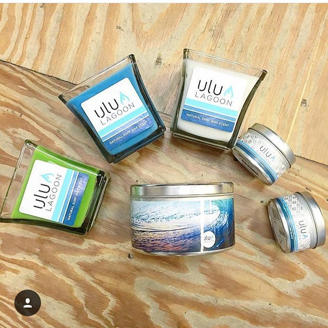 Regram from the friends at @sweetwater_surf_shop  The original surf wax candle. The best surf wax candle. This is ulu LAGOON.