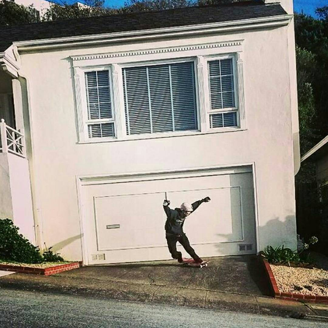 Team rider Chad Lybrand--@ragnars_world slashing driveways in San Francisco!
