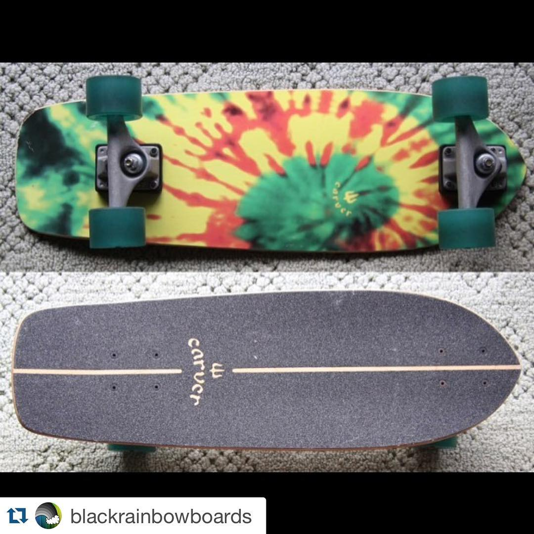 "#Repost @blackrainbowboards with @repostapp. ・・・ #carver Carver Skateboards Tye Stick CX Complete - 25.5"" #carverskateboards #cruising #shred #surfskate #yeww #style #skate #skateboarding"