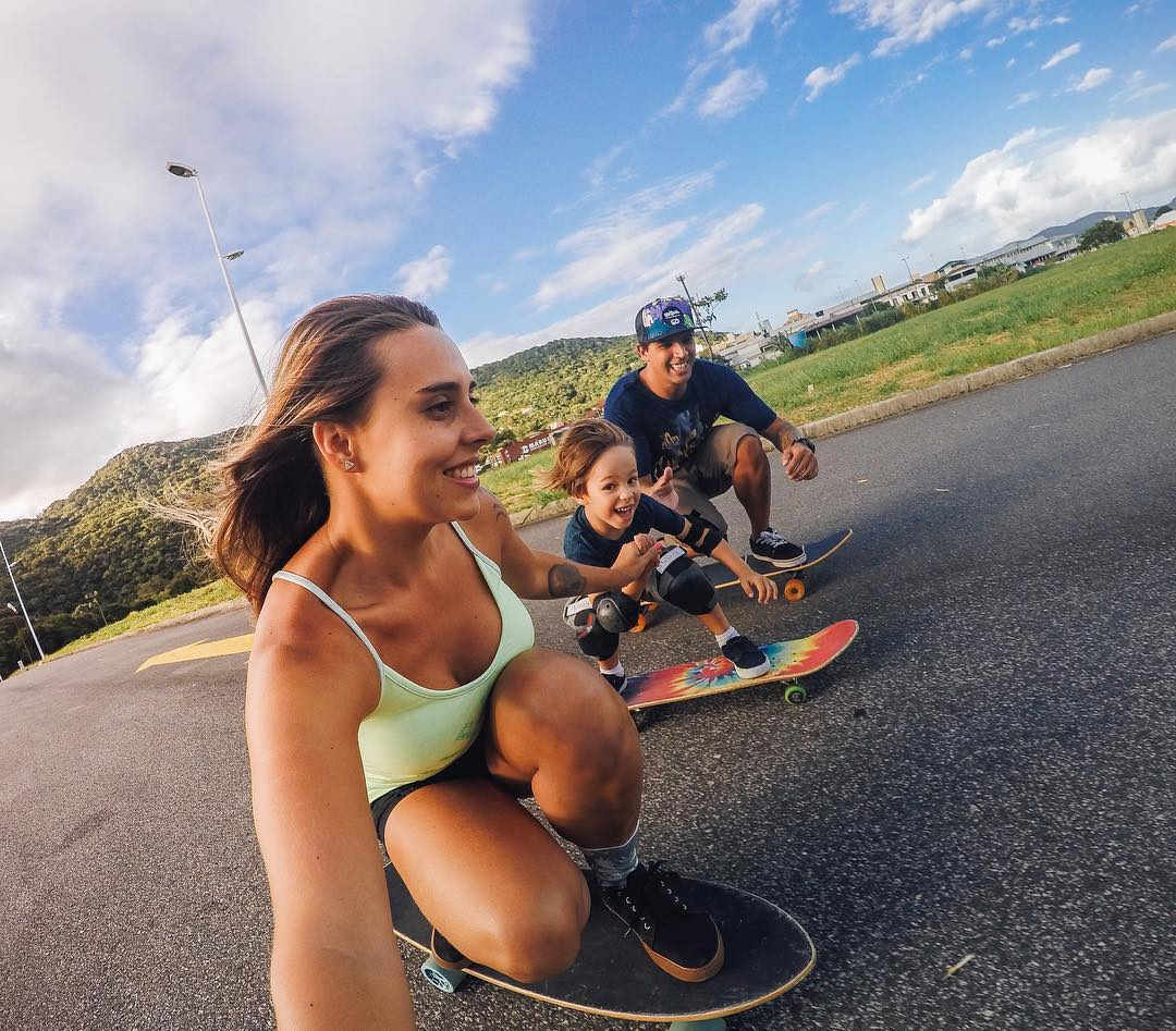 Photo of the Day! A family that #skates together, stays together! Shout out to #GoProAwards recipient @thataluz and her adorable #fam! Starting the little ones young? Share your family passion with us