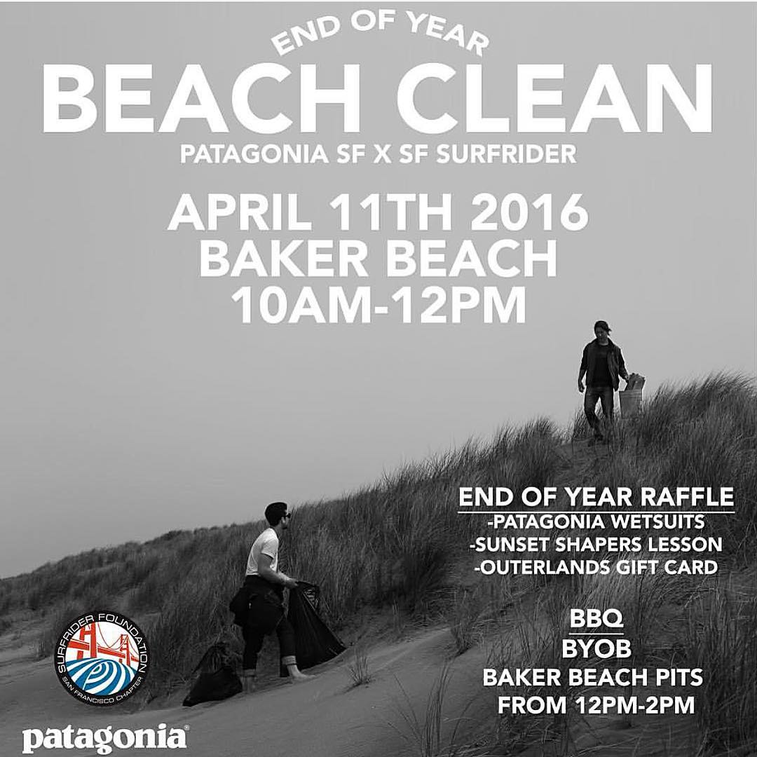 Back to back Beach Clean Ups today and tomorrow. #protectandenjoy #saveourcoasts #volunteer #beachcleanup #SF #patagoniasf #bakerbeach #raffle