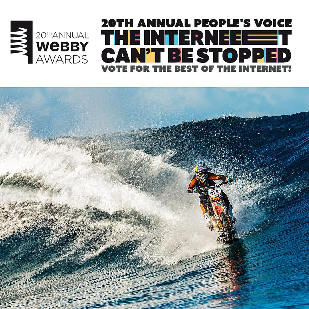 DC and @RobbieMaddison's #DCPipeDream has been nominated for a @theWebbyAwards in the Online Video Best Editing category. Go cast your vote at --> thewebbyawards.com. @dc_moto #dcshoes #dcmoto