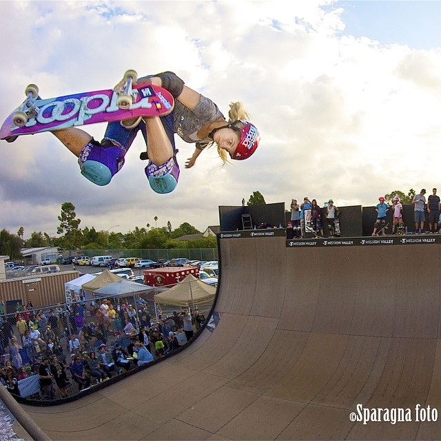 @alanasmithskate blasting at #EXPOSURE2013. Major props for winning the girls division and placing 4th against the boys in the juniors final at #VertAttack8 in Sweden two weeks ago. PC: Dan Sparagna (@sparagram). #skateboarding #skate #skatelife #vert...