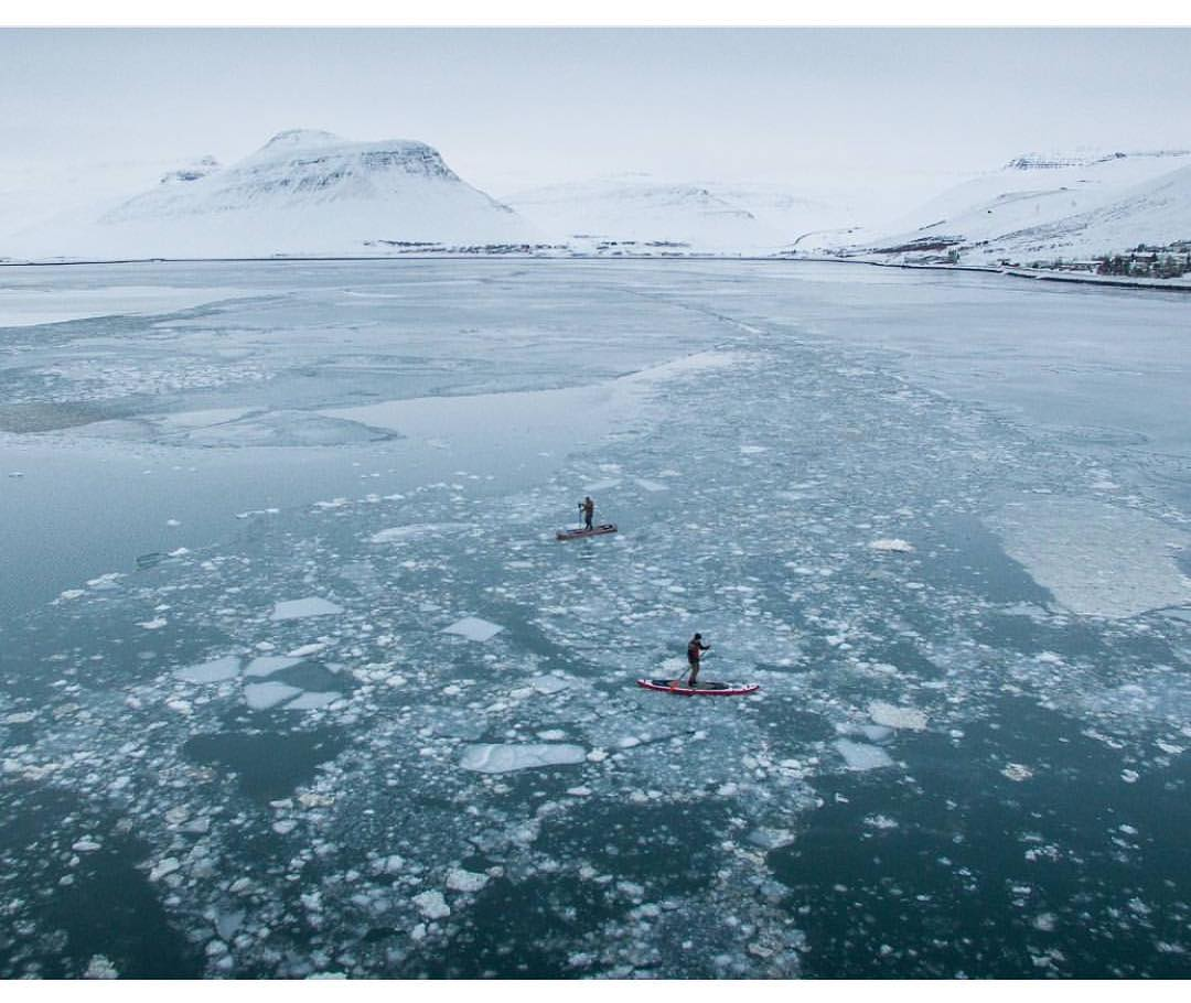 While the weather in Colorado is warming up, it's still pretty cold in Iceland. @visitwestfjords out on their #halagear boards in some icy water.  #halagear #adventuredesigned #paddlewithfriends #isup #inflatable #standuppaddle #paddleboarding...