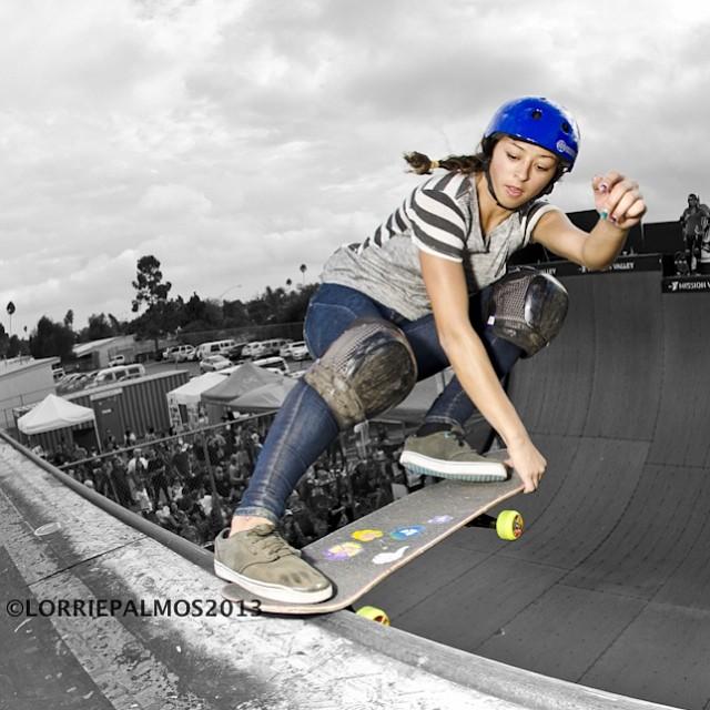 Love this shot. @_lizziearmanto #crail at #EXPOSURE2013. PC: Lorrie Palmos (@lrpalmos). #skate #skateboarding #skatelife