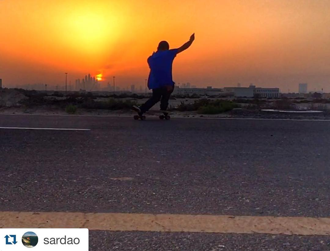 """#Repost @sardao with @repostapp. ・・・ Old saying : """"When the ocean offers you flat days, you skate your ass off"""" ✌"""