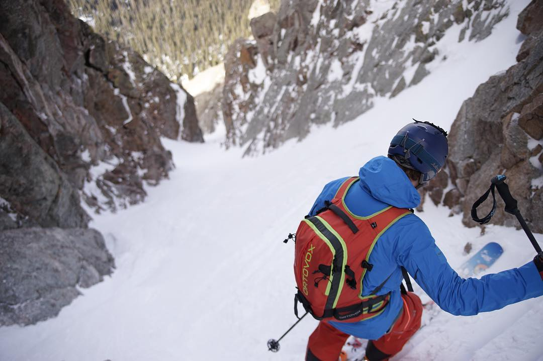 Not every day in the mountains can be a powder day.  That's not a bad thing, though.  Different #snow conditions open the opportunity for different #adventures.  Pictured here is a mid-season couloir day.  The snow was funky and variable, but it was...