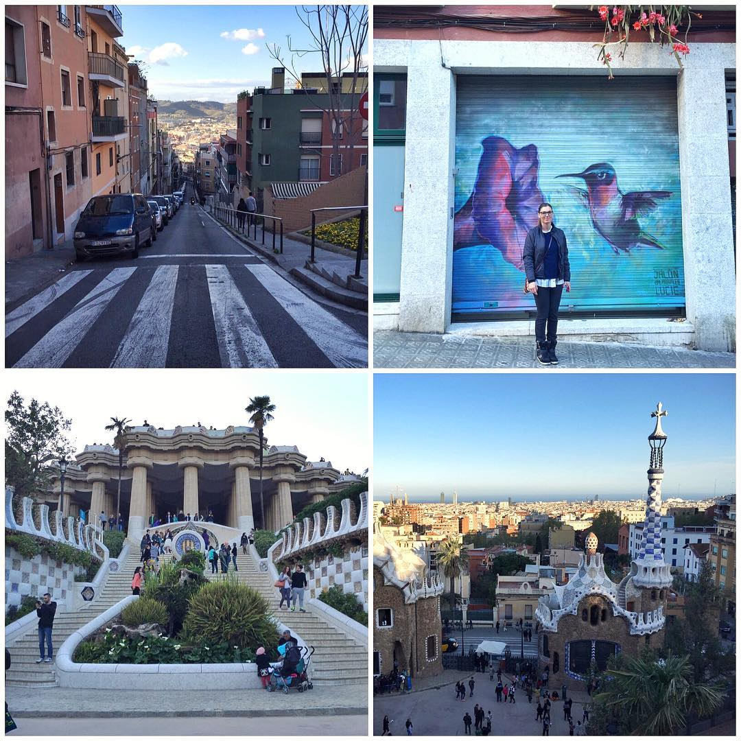 Walking tour of Barcelona today with my personal tour guide: The Wifey. She knows aaaaall the good spots here. Like Parc Güell. #happywifehappylife #jamonallday #Gaudi