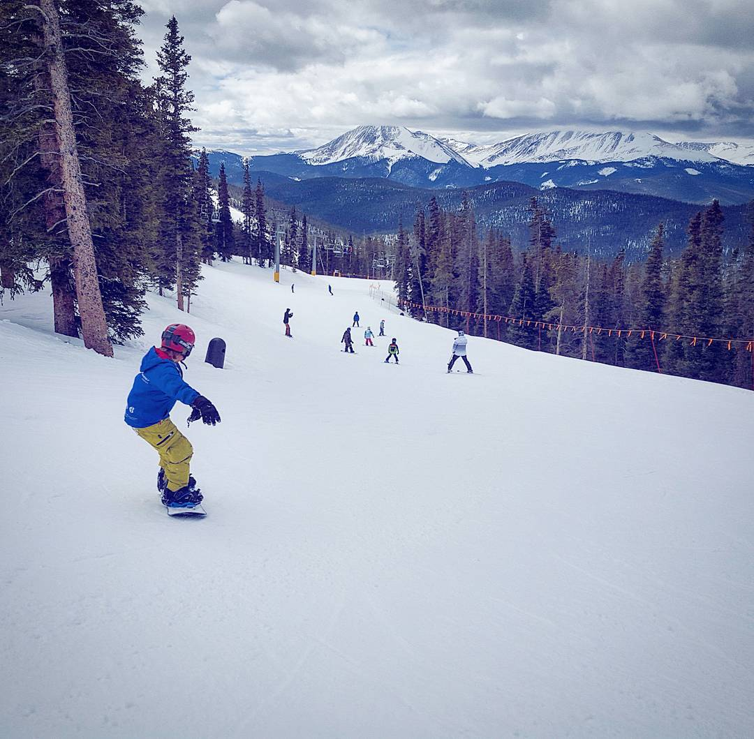 The #snow was great for #Learn to Ride's last day at @keystone_resort!