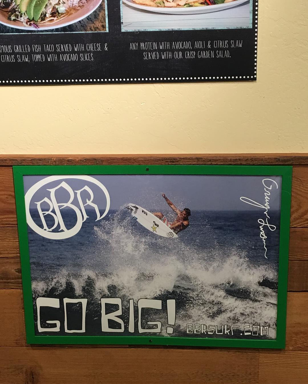 Woohoo at Wahoos Fish Taco in Fashion Island in Newport Beach. Best fish tacos anywhere.  #gobig #grangerlarsen #bbr #bbrsurf #bbrsurfwear #buccaneerboardriders #wahoos #wahoosfishtaco #fishraco