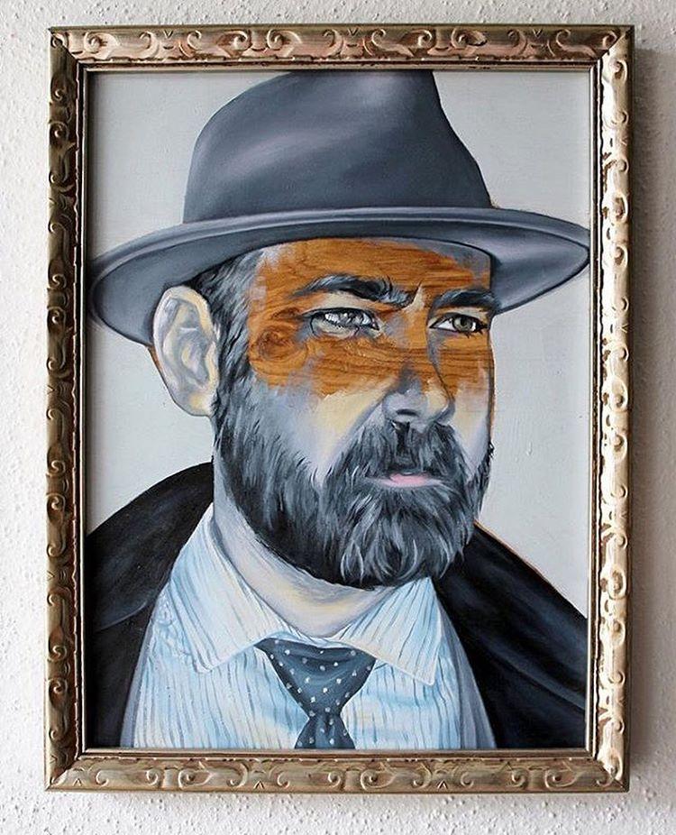 Artist @erinbowerstuff • • Portrait of @danglife • • #atx #austintx #texas #tx #art #erinbower #portrait #spratx