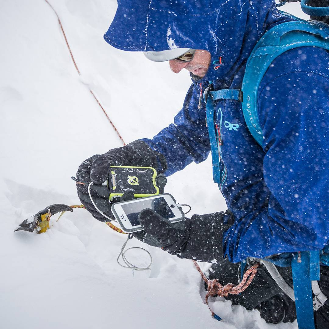 """At one point we were trying to find our way through a pass, in a white out, on a dangerous glacier - and the pass required a big down climb to what we really hoped was our exit to ski down. I climbed down the rock, got to the flatter snow, waited for..."