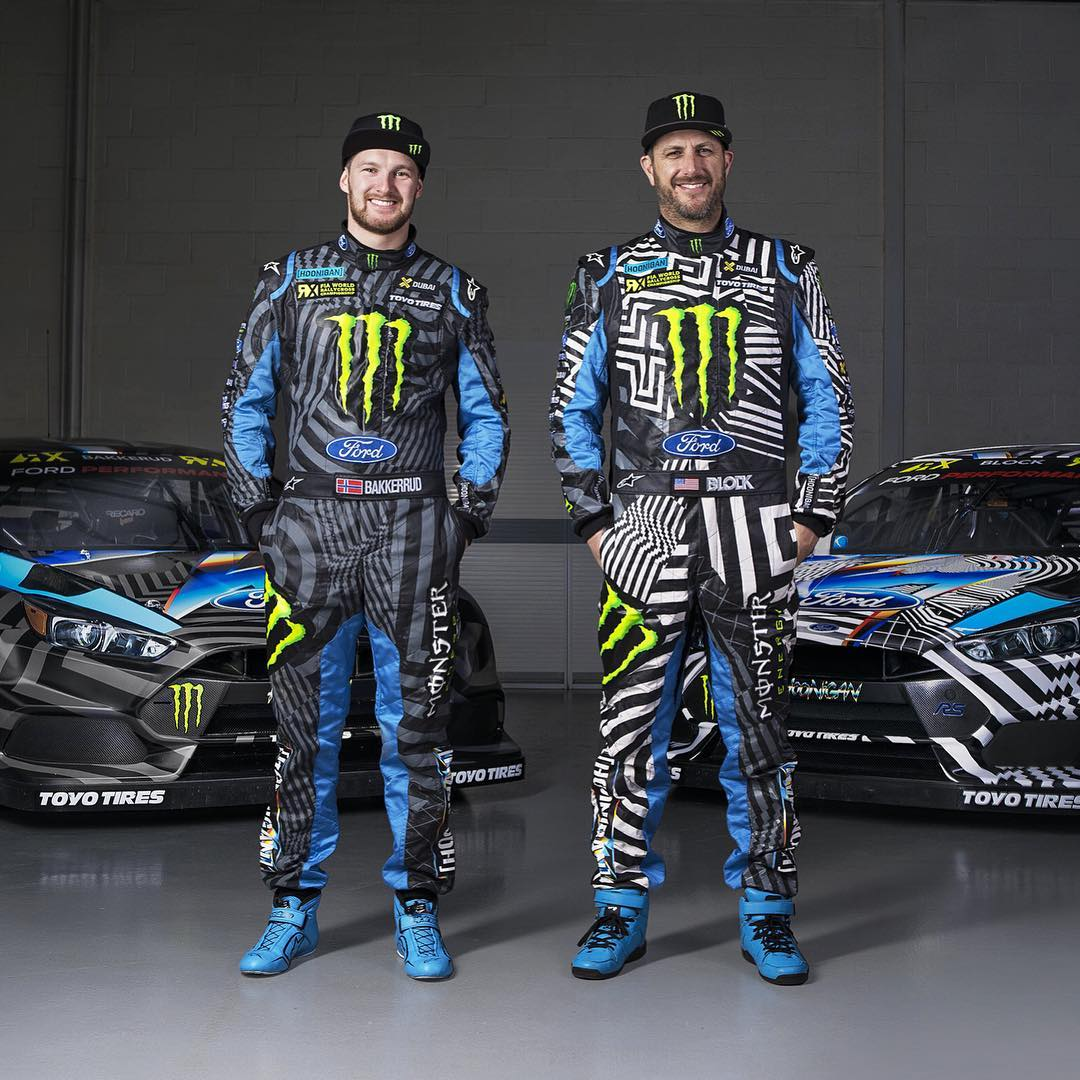 Love the way these @Alpinestars race suits turned out, matching me and @AndreasBakkerud's Ford Focus RS RX racecars in the Hoonigan Racing by Felipe Pantone livery. Stoked to use these this weekend at our first @FIAWorldRX race here in Portugal!...