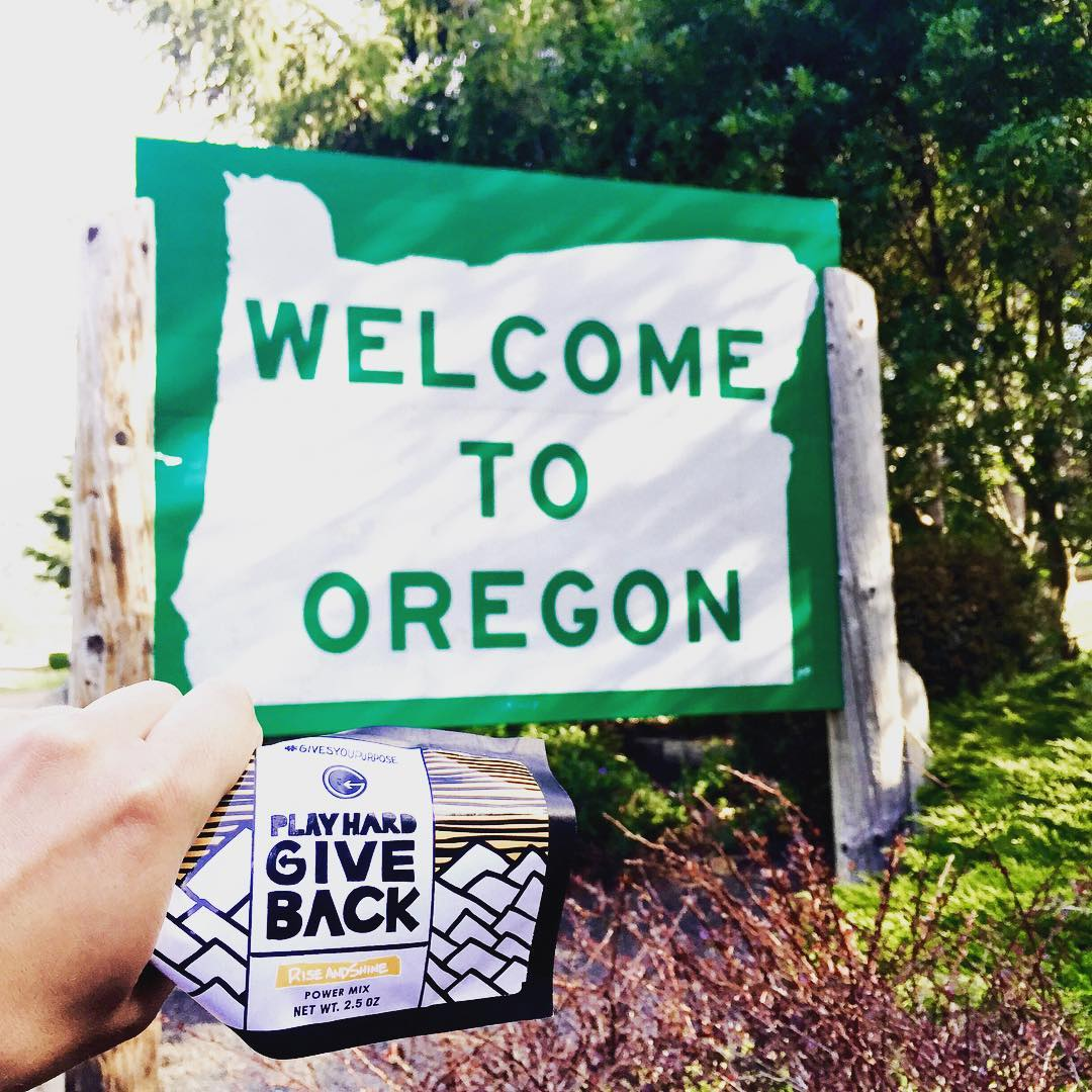 Well, shucks. Thanks Oregon. #trackthetrailmix #whatgivesyoupurpose #playhardgiveback #purpose #snacktime