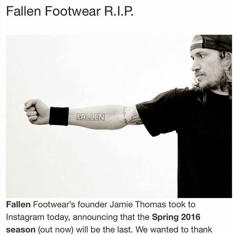 Fallen Footwear, se retira del mercado. Otra marca genuina de #skatersparaskaters que pierde la batalla frente a las grandes corporaciones #supportskaterowned #fallenfootwear #fallenargentina